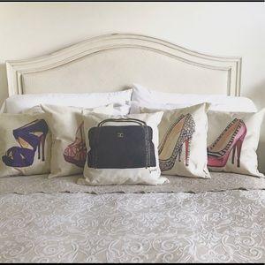 Set of 5 Designer Accent Pillows